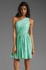 Image 1 of Shoshanna Rayna Dress in Aqua/Gold