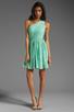 Image 2 of Shoshanna Rayna Dress in Aqua/Gold