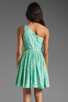 Image 4 of Shoshanna Rayna Dress in Aqua/Gold