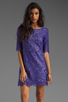 Image 1 of Shoshanna Lace Lisa Shift Dress in Amethyst
