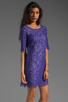 Image 3 of Shoshanna Lace Lisa Shift Dress in Amethyst