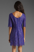 Image 4 of Shoshanna Lace Lisa Shift Dress in Amethyst
