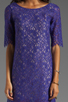Image 5 of Shoshanna Lace Lisa Shift Dress in Amethyst