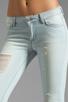 Image 4 of Siwy Juliet Skinny Crop in Cerulean
