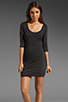 Image 1 of Soft Joie Avrele Drape Dress in Caviar