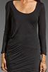 Image 3 of Soft Joie Avrele Drape Dress in Caviar