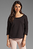 Image 2 of Soft Joie Chante French Terry Sweatshirt in Caviar