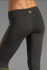 Image 6 of SOLOW Eclon Contrast Stitch Crop Legging in Heather Charcoal/Daffodil