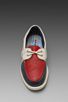 Image 5 of Sperry Top-Sider A/O 2-Eye Burnished in Dark Blue/Red/Cement