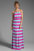 Image 2 of Splendid Magnolia Stripe Maxi Dress in Waterfall/Plum