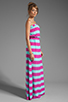Image 3 of Splendid Magnolia Stripe Maxi Dress in Waterfall/Plum