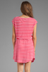 Image 4 of Splendid Short Sleeve Stripe Dress in Punch
