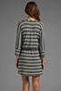 Image 4 of Splendid Short Sleeve Striped Mini Dress in Steel