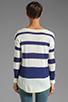 Image 2 of Splendid Yacht Stripe Sweater in Navy