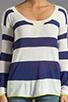 Image 3 of Splendid Yacht Stripe Sweater in Navy