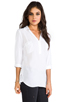 Image 2 of Splendid Blouse with Pockets in White