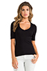 Image 1 of Splendid 1x1 V Neck in Black