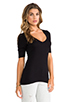Image 2 of Splendid 1x1 V Neck in Black