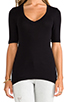 Image 4 of Splendid 1x1 V Neck in Black