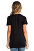 Image 3 of Splendid Very Light Jersey V Neck Tee in Black