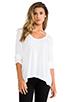 Image 1 of Splendid Very Light Jersey Long Sleeve Tee in White