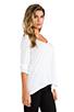 Image 2 of Splendid Very Light Jersey Long Sleeve Tee in White