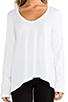 Image 4 of Splendid Very Light Jersey Long Sleeve Tee in White