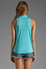 Image 2 of Splendid Shirting Button Up Tank in Aquatic