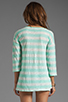 Image 2 of Splendid White Stripe Rugby Henley Top in Pistachio
