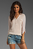 Image 1 of Splendid Shirting Collar Top in Sand