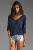 Image 1 of Splendid Very Light Jersey Henley in Navy