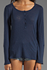 Image 3 of Splendid Very Light Jersey Henley in Navy