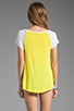 Image 2 of Splendid Drapey Lux Baseball Tee in Citron