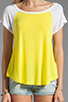 Image 3 of Splendid Drapey Lux Baseball Tee in Citron