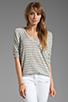 Image 1 of Splendid Disco Stripe Loose Knit Top in Heather Grey