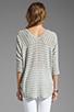 Image 2 of Splendid Disco Stripe Loose Knit Top in Heather Grey