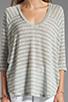 Image 3 of Splendid Disco Stripe Loose Knit Top in Heather Grey