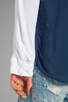 Image 4 of Splendid Color Blocked Button Up Top in Navy/White