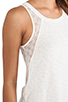 Image 5 of Splendid Lace Slub Tank in Sand Dollar