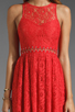 Image 3 of Style Stalker Love Me Do Lace Up Dress in Coral Red