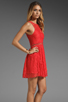 Image 4 of Style Stalker Love Me Do Lace Up Dress in Coral Red