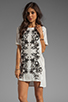 Image 1 of Style Stalker Parallel Universe Dress in Black/White Floral