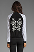 Image 4 of Style Stalker Parallel Universe Bomber Jacket in Black/White Floral