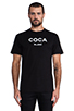 Image 1 of SSUR Coca Blanc Tee in Black/White