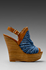 Image 1 of Steven Jacks Wedge Sandal in Blue