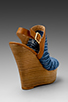 Image 4 of Steven Jacks Wedge Sandal in Blue