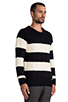 Image 2 of Scotch & Soda Structured Monsanto Pullover in Navy/Off White