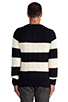Image 3 of Scotch & Soda Structured Monsanto Pullover in Navy/Off White
