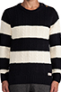 Image 4 of Scotch & Soda Structured Monsanto Pullover in Navy/Off White