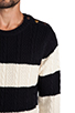 Image 5 of Scotch & Soda Structured Monsanto Pullover in Navy/Off White